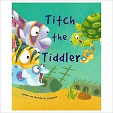 Large Childrens Bedtime Story - Titch The Tiddler - Fish Picture Book Kids 2196