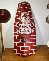 Cardboard Electric Fireplace w/Chimney Vtg Xmas Gersten FULL Size Complete