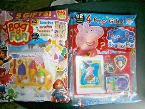 1 x Peppa Pig Bag O Fun & 1 Favourites  Bag O Fun Magazines With Gifts   (new)