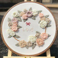 Love Cross Stitch Kits Hand Embroidery Hoop Floral Art for Wedding Gifts