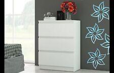 Kommode Sideboard Anrichte Schrank mit 3 Schubladen Weiß Top Qualität