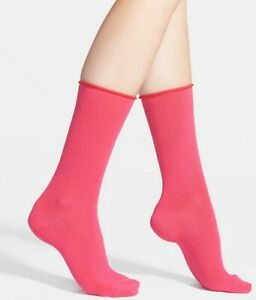 Hue Women Jean Socks 2-Pairs Pink One Size 2271
