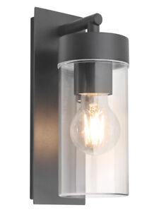 New Rectangular Outdoor Wall Light Clear Metal Lantern Garden Wall Lamp ZLC344