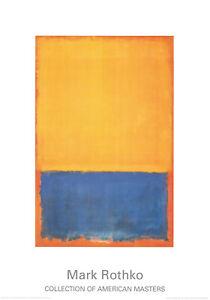 Mark Rothko - o.T. (Yellow, Blue on Orange) - Kunstdruck n.d. Original von 1955
