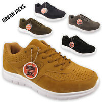 Mens Faux Suede Fashion Casual Gym Comfort Trainers Lace Up Sports Shoes Size