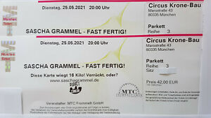 2 x Sascha Grammel 28.06.2022 München - direkt an der Bühne - neuer Termin !