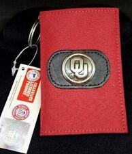NWT OU Oklahoma SOONERS Keychain wallet Silver tone OU Concho Velcro Closure