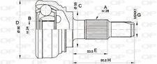 TêTE DE CARDAN POUR ALFA ROMEO 33 SPORTWAGON 1.8 TD,33 1.2,1.3,1.5,1.5 4X4,1.7