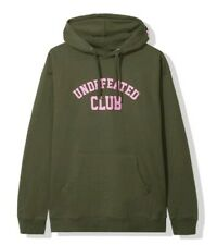AntiSocial Social Club x Undefeated Olive Hoodie Men's size Large