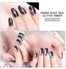 Black Mirror Nail Glitter Powder Polish Gel Manicure Art DIY Chrome Pigment Dust