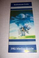 1982 BALTIMORE Colts MEDIA GUIDE / YEARBOOK 162 Pages ROGER CARR Greg LANDRY