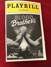 BLOOD BROTHERS Playbill The Music Box Theater Broadway May 1993