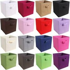 Foldable Storage Box Organizer Non-Woven Fabric Storage Boxes for Toys Clothes
