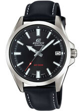 Casio Edifice Reloj Análogo para Hombre Pulsera de Cuero Negro EFV-100L-1AVUEF