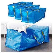 3 X Ikea Frakta Azul Grande con Cremallera Tronco Bolsas De Almacenamiento 76L