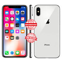 Apple iPhone X 64GB Unlocked 12 MONTH WARRANTY Silver Grade A Refurbished