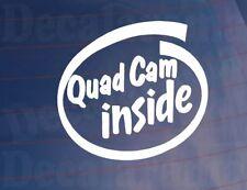 QUAD CAM INSIDE Novelty Car/Van/Window/Bumper Sticker/Decal