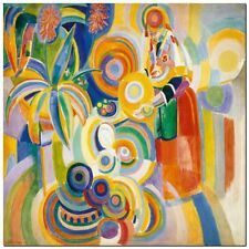 "Stunning Classic Art ~ Robert Delaunay Portugese Woman ~ CANVAS PRINT 12x12"""