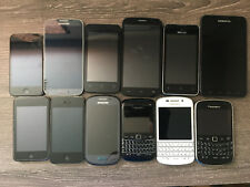 Mix of 12 used phones and devices