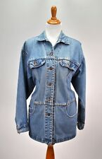 Vintage 1991 Levis Jean Jacket Womens Medium Distressed Snap Buttons Made in USA