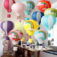 1Pcs Hot Air Balloon Paper Lantern Ceiling Light Shade Bedroom Lamp Home Decor