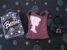 NEW modern SKIPPER Doll Clothes-Barbie Silhouette Head Tank/Shopping Bag B Purse