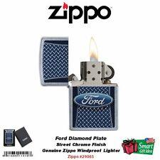 Zippo Ford Motor Company Diamond Plate Lighter, Street Chrome #29065