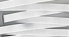 RIBBED NON ROLL ELASTIC WHITE 20MM WIDE PREMIUM QUALITY PER METER SEWING CRAFT