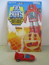 Vintage 1983 Go Bots Turbo Figure Toy With Backer Card Tonka Transformer