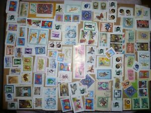 40 grams mixtures Mongolia stamps on single paper kiloware