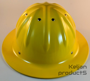OEM TRADESMAN FORESTER ALUMINUM HARD HAT YELLOW FULL BRIM w/RATCHET SUSPENSION