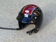 Vintage BELL RT Motorcycle Helmet w/ Visor BLACK & MAROON 7-1/8 rare colors 57cm