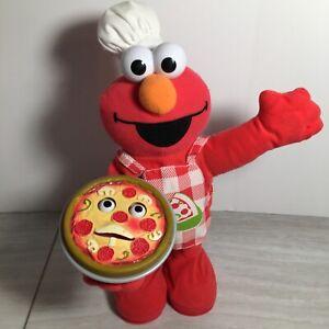 Fisher Price Mattel Singing Pizza Elmo Interactive Plush Sesame Street Toy Works
