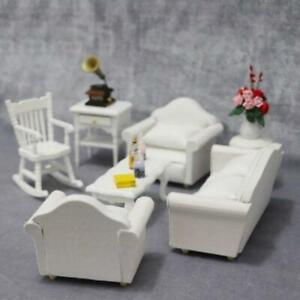 Be_ 1:12 Doll House Miniature Living Room Furniture Sofa Armchair Pillow Set San