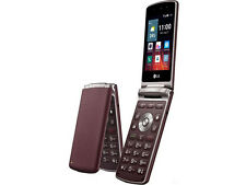 DHL Ship - New Unlocked LG Wine Smart 2 H410 (1G/4G) 4G LTE Flip Phone - Red
