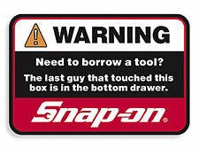 "Official Snap-On Tool Box Sticker ""Bottom Drawer"" FREE P&P"