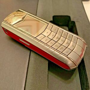 Vertu Ascent☑️GENUINE Unlocked Cellular Phone✅RED & BLACK LEATHER✅Great,with box
