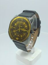 Diesel DZ1187 men's Full black watch yellow crystal glass DZ-1187 10 ATM
