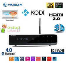 HiMedia Q10 PRO Quad Core 4K 10bits H.265 Android Media Player KODI Dual WiFi BT