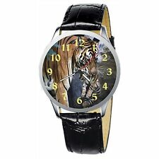Mother Tiger With Her Cub Stainless Wrist Watch Wristwatches