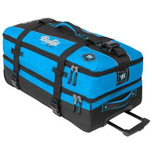 BoGi Bag Reisetrolley Schwarz Blau 82cm Koffer Tasche Rollen Gepäck Suitcase