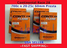 NEW 4 PACK Continental RACE 28 700 x 20-25c 60mm LONG STEM Presta Valve RVC Tube