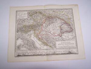 Carta Impero Austro-Ungarico - GOTHA Justus Perthes, 1871