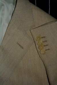 $2895 Ermenegildo Zegna Wool Silk Beige Tan Jacket Blazer 46R 46R Defect