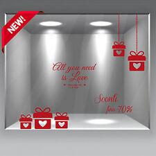 wall stickers adesivi san valentino vetrofanie vetrofania  pacchi saldi sconti