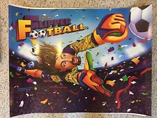 Capcom FLIPPER FOOTBALL 1996 Pinball Machine Translite