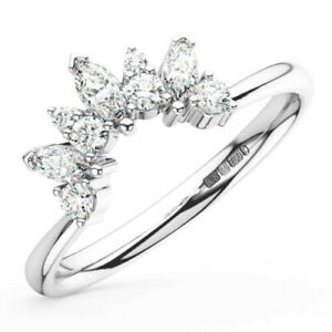 0.30 Ct Round and Marquise Cut Diamond Engagement Ring in 950 Platinum