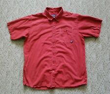 EUC Patagonia Men's Short Sleeve Button Down Shirt Color Red Size Large L