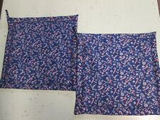 New listing Christmas Potholders, Set of Two, Candy Canes, Snowflakes, Stars, Blue/Mutli