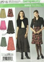 Skirts size 8-16 Simplicity 2516 Sewing Pattern